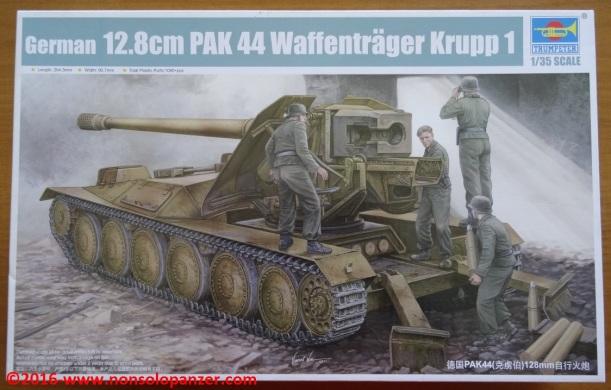 01 Krupp Waffentrager Pak-44 Trumpeter