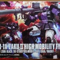01 Zaku II High Moblility Type Black Tri-Stars