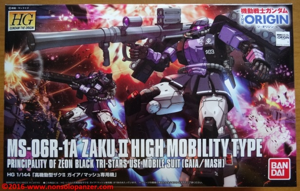 01 Zaku II High Moblility Type Black Tri-Stars