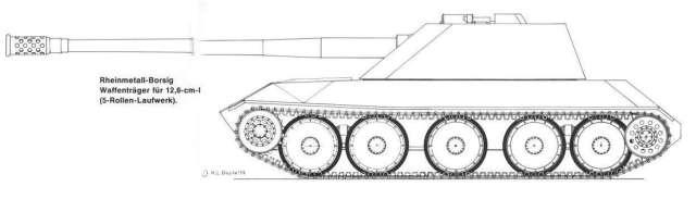 44 ipotesi Waffentrager Rheinmetal Pak-44