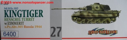 02 Tiger II Henschel Abt 505 Cyberhobby