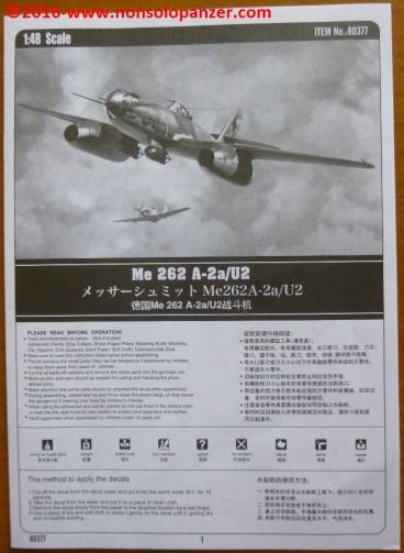 30 Me 262 A-2aU2 Hobby Boss