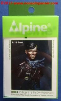 01 116 Pz Division Officer bust Alpine