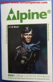 02 116 Pz Division Officer bust Alpine