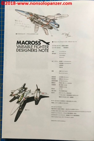 22 Macross Variable Fighter Designers Note