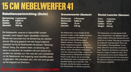 01 Nebelwerfer 41 Overloon War Museum