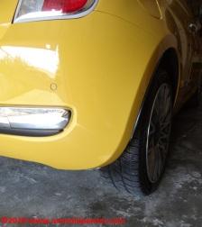 09 Fiat 500 Riparazione Paraurti Posteriore