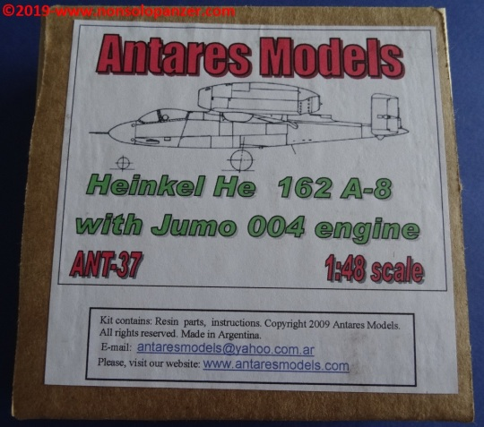 01 He-162 A-8 with Jumo 004 engine - Antares Models