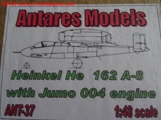 02 He-162 A-8 with Jumo 004 engine - Antares Models
