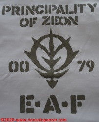 13 Principality of Zeon EAF - T-Shirt Cospa